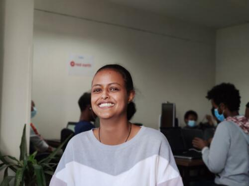 From intern to junior developer, Always with a smile on her face